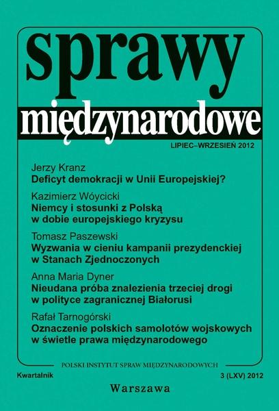 Sprawy międzynarodowe 3/2012