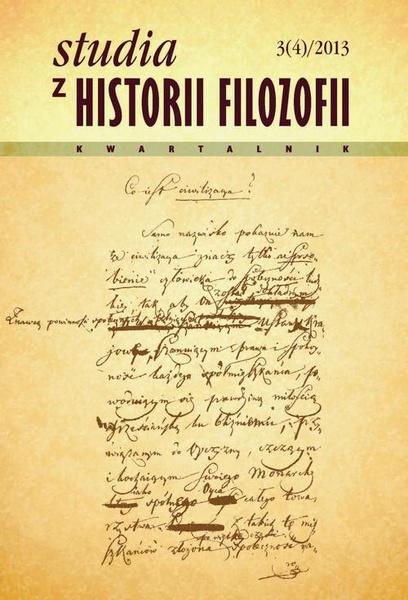 Studia z Historii Filozofii, nr 3(4)/2013