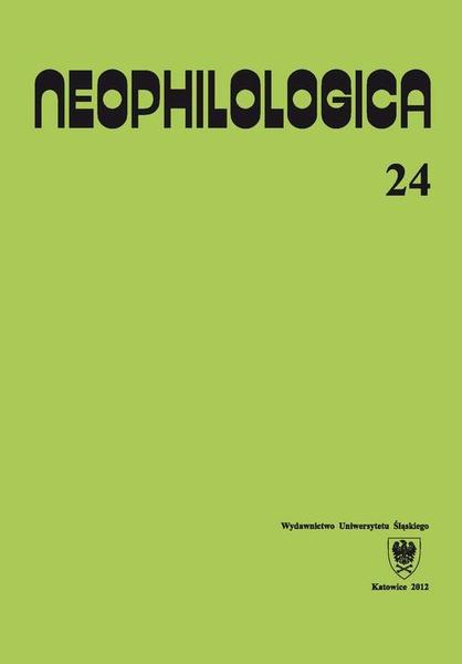 Neophilologica. Vol. 24: Études sémantico-syntaxiques des langues romanes
