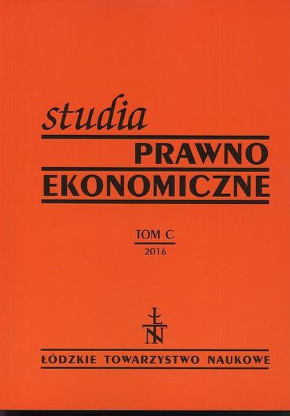 Studia Prawno-Ekonomiczne t. 100