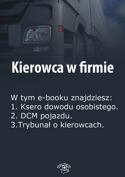 Kierowca w firmie, wydanie styczeń 2014 r.