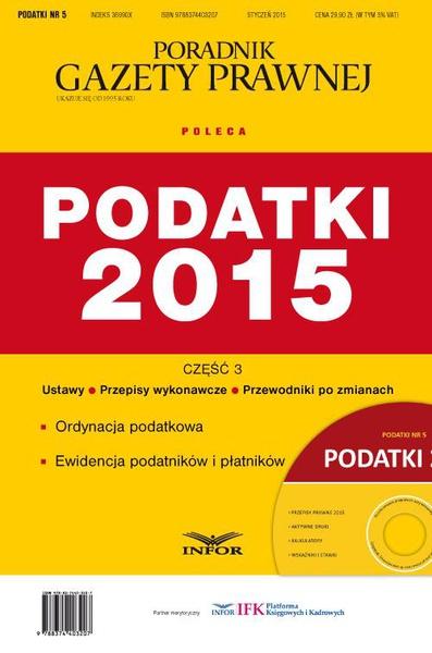 Podatki 2015 cz.3 Ordynacja podatkowa