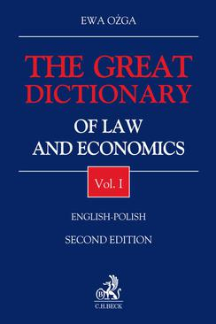 The Great Dictionary of Law and Economics. Vol. I. English - Polish