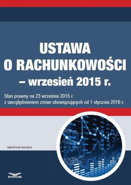Ustawa o rachunkowości - wrzesień 2015