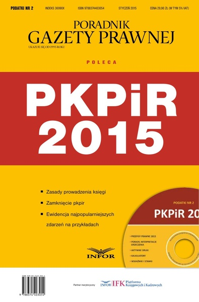 PODATKI NR 2 - PKPiR  2015 wydanie internetowe