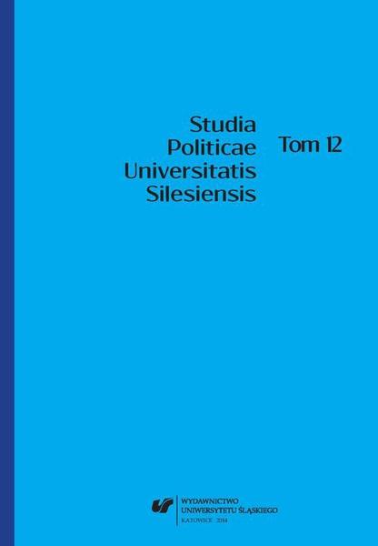Studia Politicae Universitatis Silesiensis. T. 12
