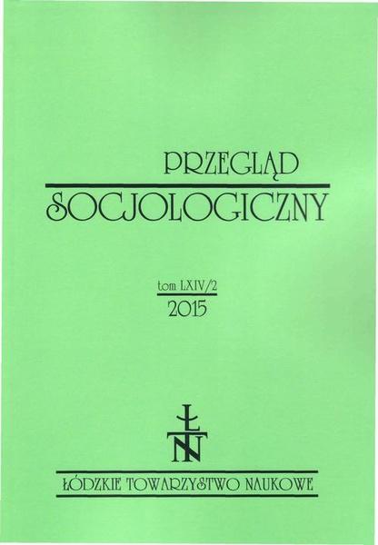 Przegląd Socjologiczny t. 64 z. 2/2015