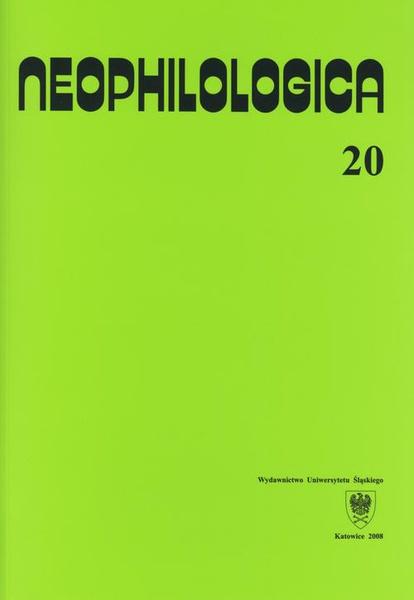 Neophilologica. Vol. 20: Études sémantico-syntaxiques des langues romanes