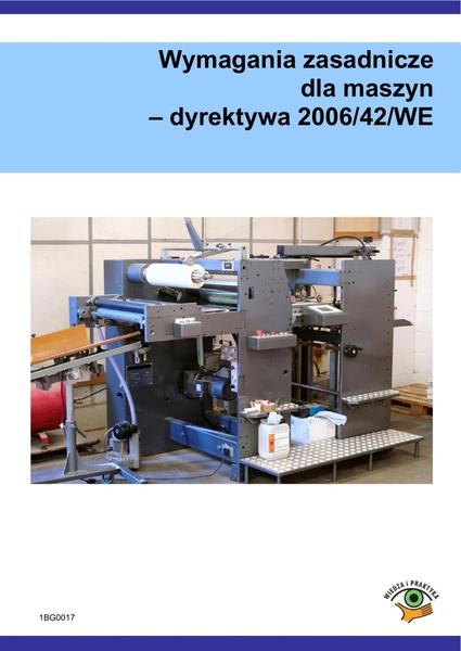 Wymagania zasadnicze dla maszyn - dyrektywa 2006/42/WE