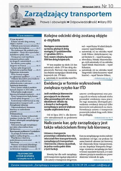 Zarządzający transportem Wrzesień 2013 nr 10