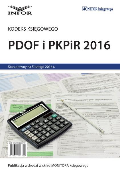 Kodeks księgowego - PDOF i PKPiR 2016