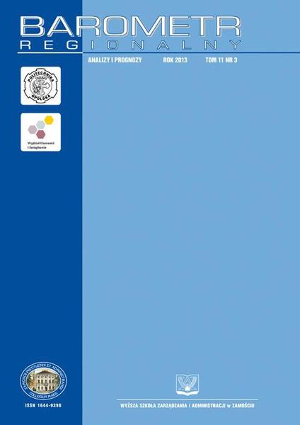 Barometr Regionalny  : analizy i prognozy. T.11 nr 3