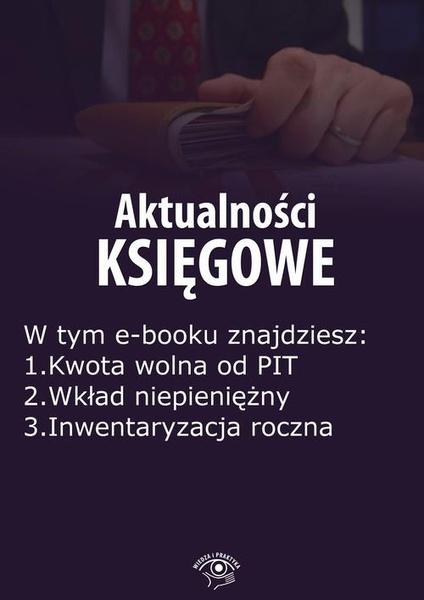 Aktualności księgowe, wydanie grudzień 2015 r.