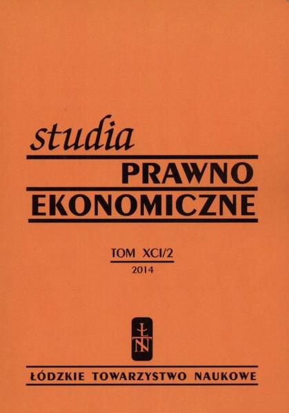 Studia Prawno-Ekonomiczne t. 91/2 2014