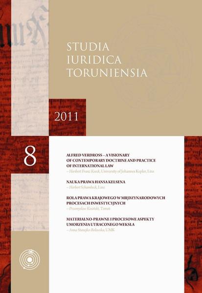 Studia Iuridica Toruniensia t. 8