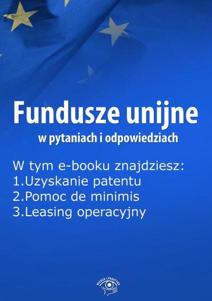 Fundusze unijne w pytaniach i odpowiedziach, wydanie listopad 2015 r.