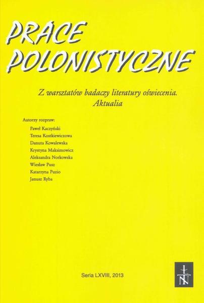 Prace Polonistyczne t. 68/2013