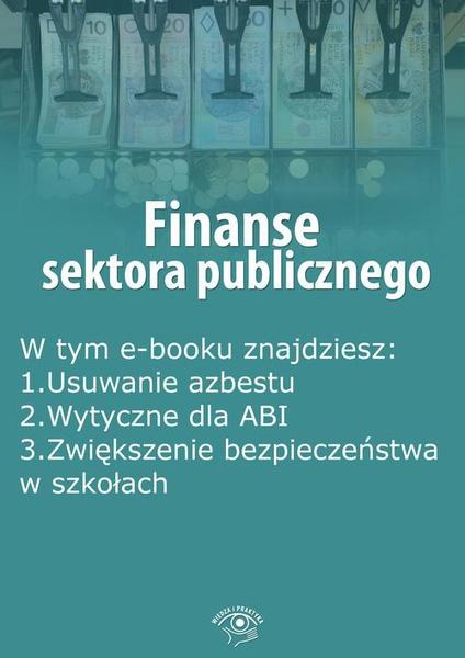 Finanse sektora publicznego, wydanie sierpień 2015 r.