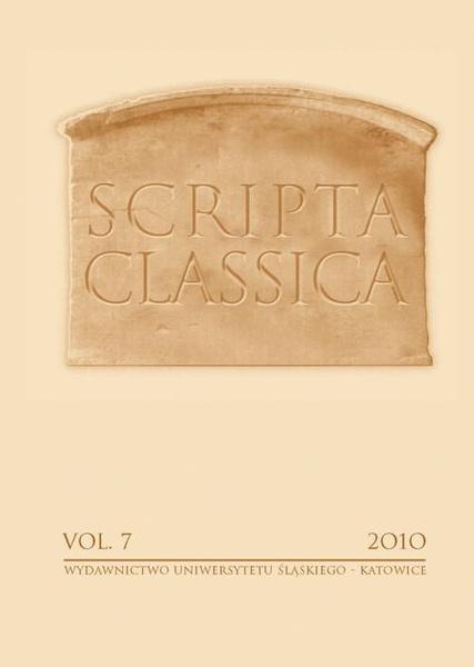 Scripta Classica. Vol. 7