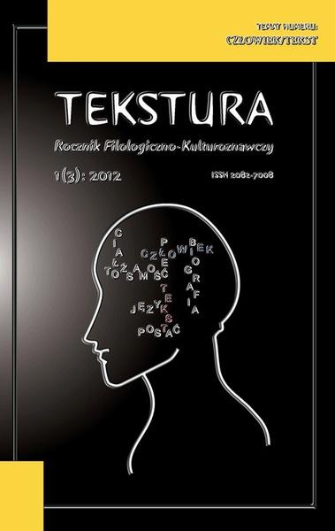 Tekstura. Rocznik Filologiczno-Kulturoznawczy, t. 3/2012