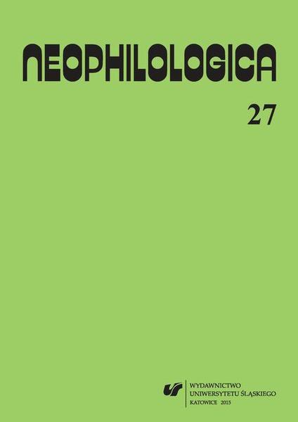 """""""Neophilologica"""" 2015. Vol. 27: La perception en langue et en discours"""