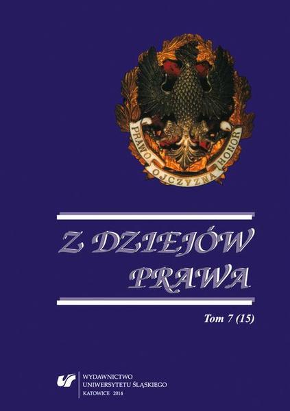 Z Dziejów Prawa. T. 7 (15)