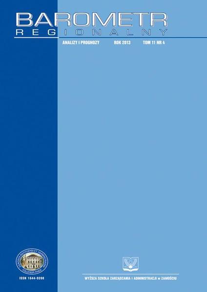 Barometr Regionalny : analizy i prognozy. T.11, nr 4