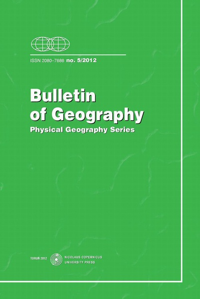 Bulletin of Geography. Physical Geography Series, No. 5/2012