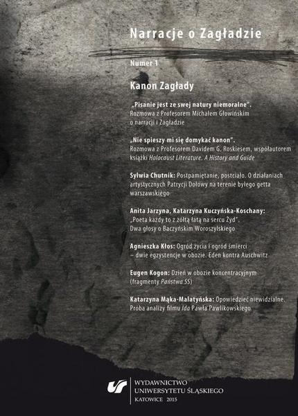 """""""Narracje o Zagładzie"""" 2015, nr 1: Kanon Zagłady"""