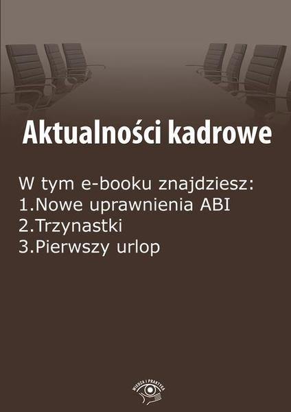 Aktualności kadrowe, wydanie luty 2015 r.