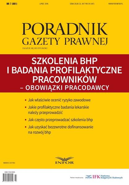 Szkolenia BHP i badania profilaktyczne pracowników - obowiązki pracodawcy