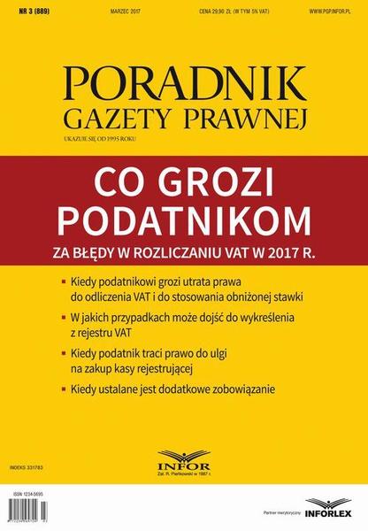 Co grozi podatnikom za błędy w rozliczaniu VAT w 2017 r. (PGP 3/2017)