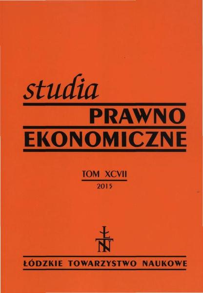 Studia Prawno-Ekonomiczne t. 97