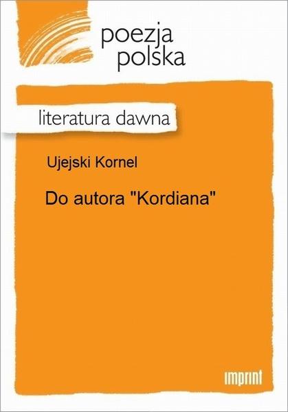 "Do autora ""Kordiana"""