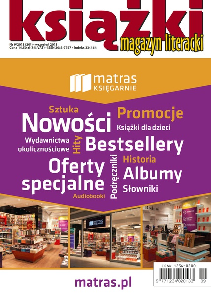 Magazyn Literacki Książki - Nr 9/2013 (204)