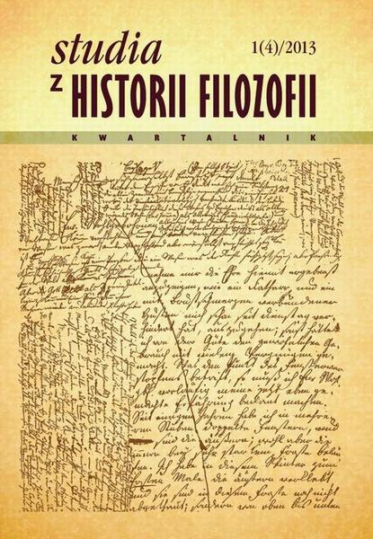 Studia z Historii Filozofii, nr 1 (4)/2013