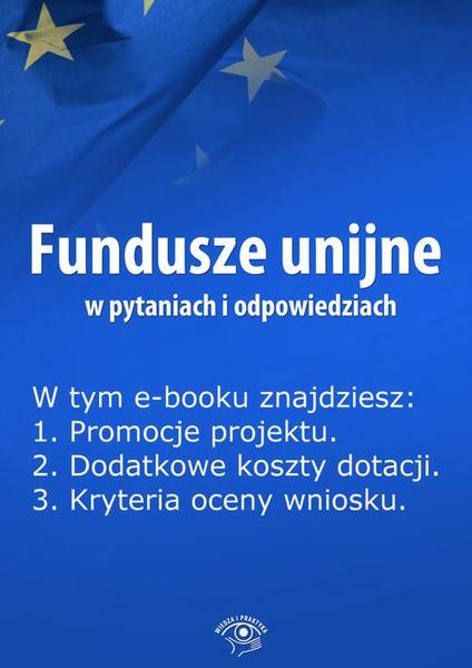 Fundusze unijne w pytaniach i odpowiedziach, wydanie czerwiec 2014 r.