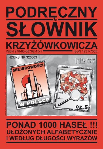 Podręczny Słownik Krzyżówkowicza - Nr 65