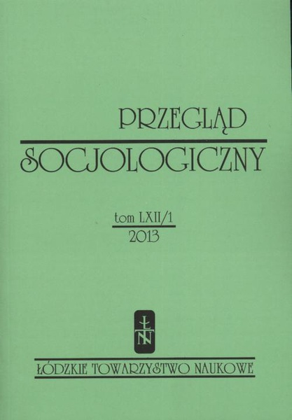 Przegląd Socjologiczny t. 62 z. 1/2013