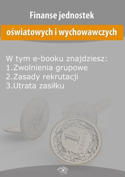 Finanse jednostek oświatowych i wychowawczych, wydanie maj 2014 r.