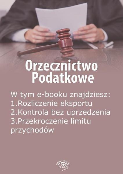 Orzecznictwo podatkowe, wydanie listopad 2014 r.