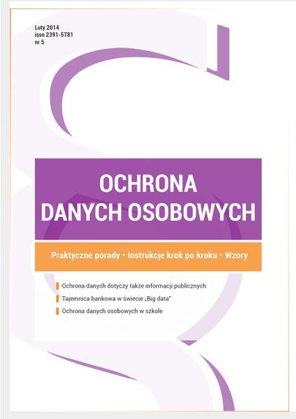 Ochrona danych osobowych - wydanie luty 2015 r.