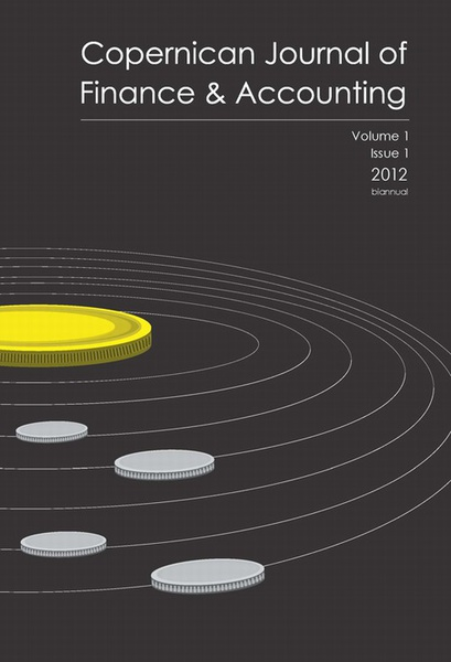 Copernican Journal of Finance & Accounting, vol 1, 1/2012