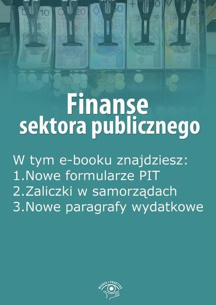Finanse sektora publicznego, wydanie kwiecień 2016 r.