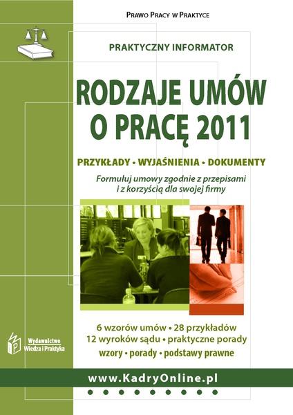 Rodzaje umów o pracę 2011