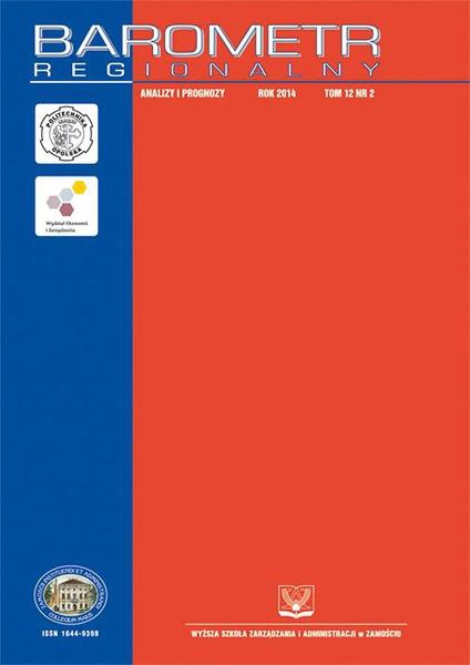 Barometr Regionalny : analizy i prognozy. T.12, nr 2
