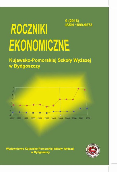 Roczniki Ekonomiczne Kujawsko-Pomorskiej Szkoły Wyższej w Bydgoszczy 9 (2016)