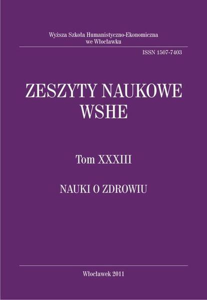 Zeszyty Naukowe WSHE, t. XXXIII, Nauki o Zdrowiu