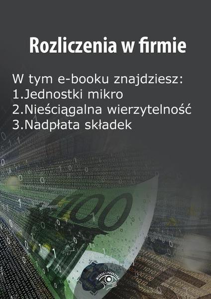 Rozliczenia w firmie, wydanie wrzesień 2014 r.