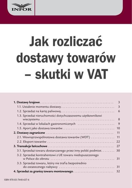 Jak rozliczać dostawy towarów - skutki w VAT